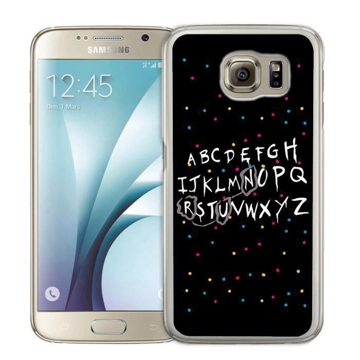 Coque Samsung Galaxy S6 Edge Stranger Things Alpha