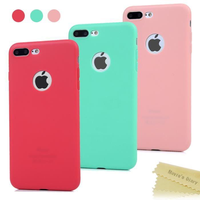 3 x Coque iPhone 7 plus,Coque iPhone 7 plus Silicone Bumper ...