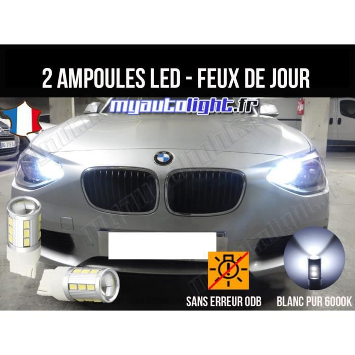 pack feux de jour led blanc xenon pour bmw serie 1 f20 achat vente phares optiques pack. Black Bedroom Furniture Sets. Home Design Ideas
