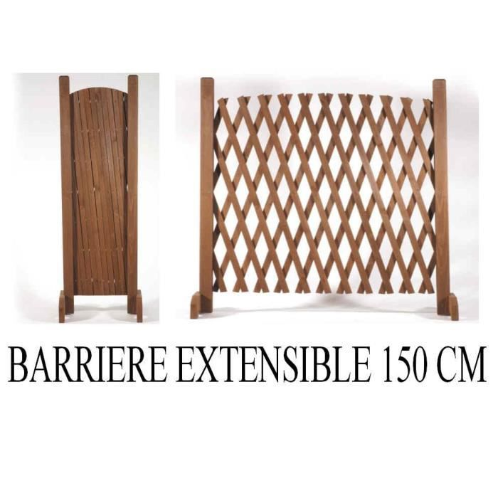 barri re extensible en bois grande longueur 150 cm pour chien escalier achat vente cl ture. Black Bedroom Furniture Sets. Home Design Ideas