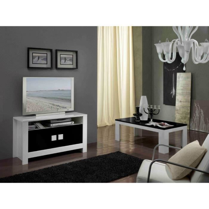 pisa laque noir et blanc ensemble salle a manger achat. Black Bedroom Furniture Sets. Home Design Ideas