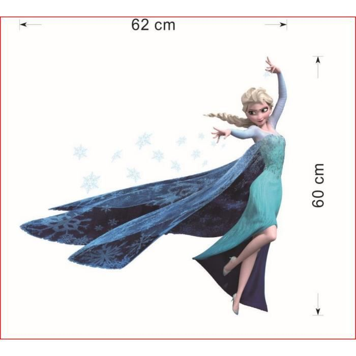 grand sticker elsa anna reine des neiges 60cm - Achat / Vente stickers ...