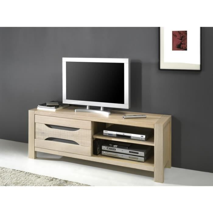meuble tv en ch ne 39 baltic 39 achat vente meuble tv. Black Bedroom Furniture Sets. Home Design Ideas