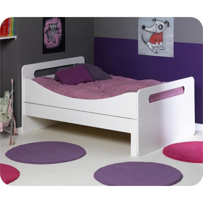 eb lit enfant volutif eden blanc achat vente lit. Black Bedroom Furniture Sets. Home Design Ideas