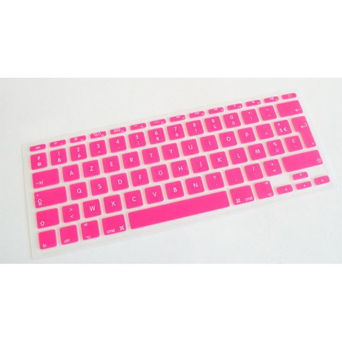 Housse clavier rose macbook air 11 crystalguard achat for Housse macbook air 11 pouces