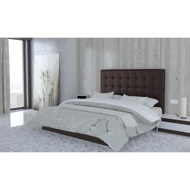 t te de lit capitonn e 140 marron chocolat achat vente t te de lit t te de lit capitonn e. Black Bedroom Furniture Sets. Home Design Ideas