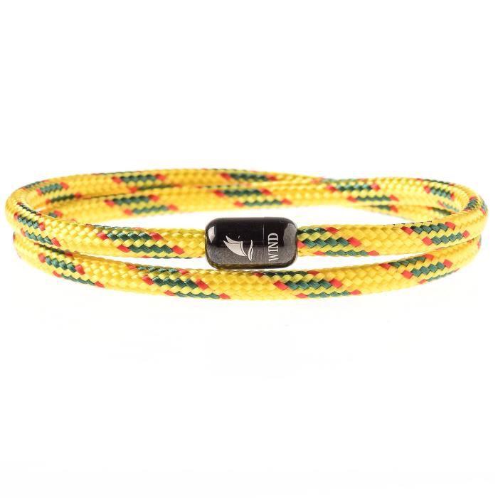 Wind Passion Bracelet Aimant/é Magn/étique Corde Marin Nautique pour Homme et Femme