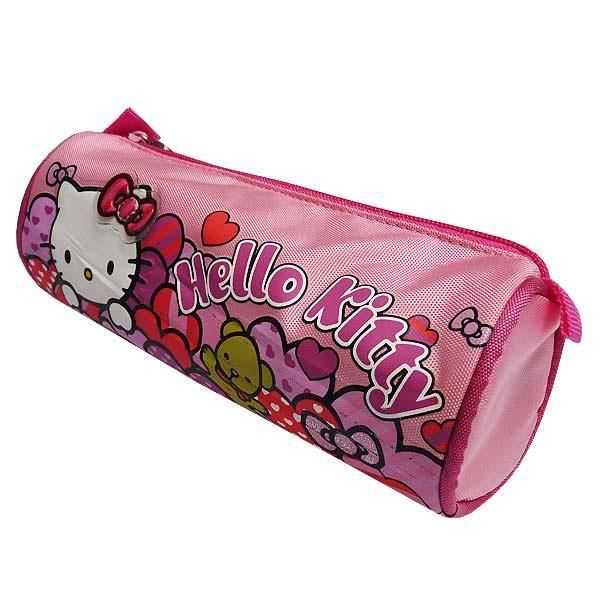 Trousse hello kitty coeur 23 cm achat vente trousse stylo 8428322106637 cdiscount - Hello kitty coeur ...