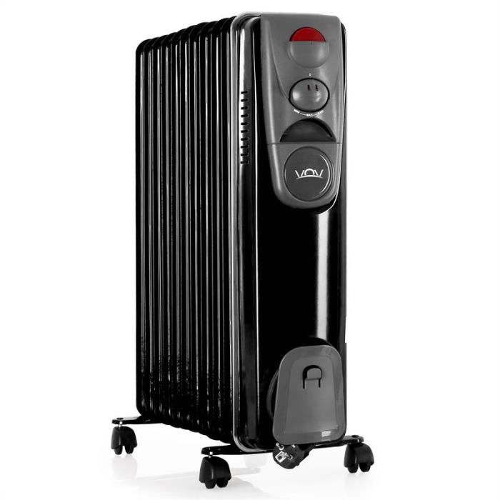 vov voh a11y radiateur bain d 39 huile 2500w noir achat. Black Bedroom Furniture Sets. Home Design Ideas