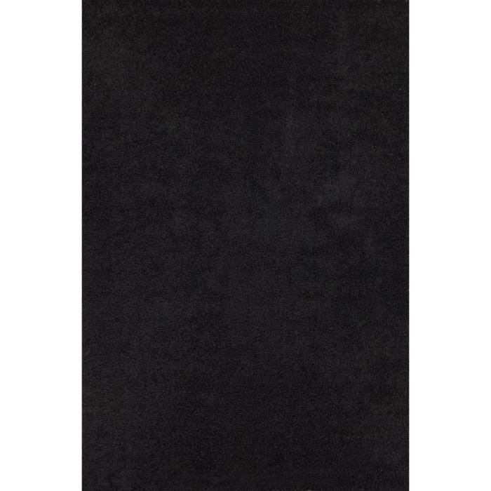 tapis de salon noir 45mm 160 x 230 cm shaggy moncornerdeco. Black Bedroom Furniture Sets. Home Design Ideas