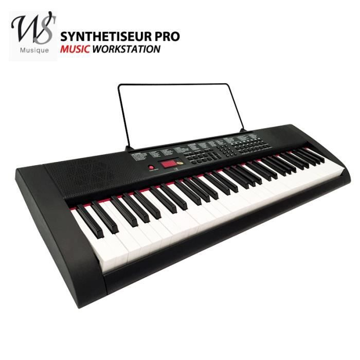 synthetiseur electrique clavier piano 61 touches pro pas. Black Bedroom Furniture Sets. Home Design Ideas