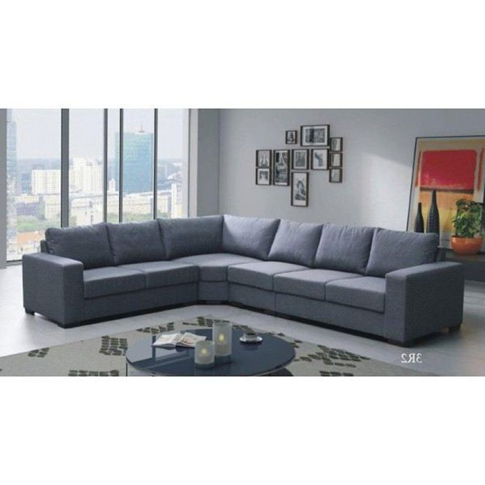 canap d 39 angle 6 places lili gris angle gauche achat vente canap sofa divan tissu. Black Bedroom Furniture Sets. Home Design Ideas
