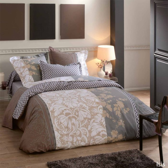 parure housse de couette 3p isis lit 160 achat vente. Black Bedroom Furniture Sets. Home Design Ideas