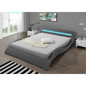 lit design led achat vente lit design led pas cher soldes d s le 10 janvier cdiscount. Black Bedroom Furniture Sets. Home Design Ideas