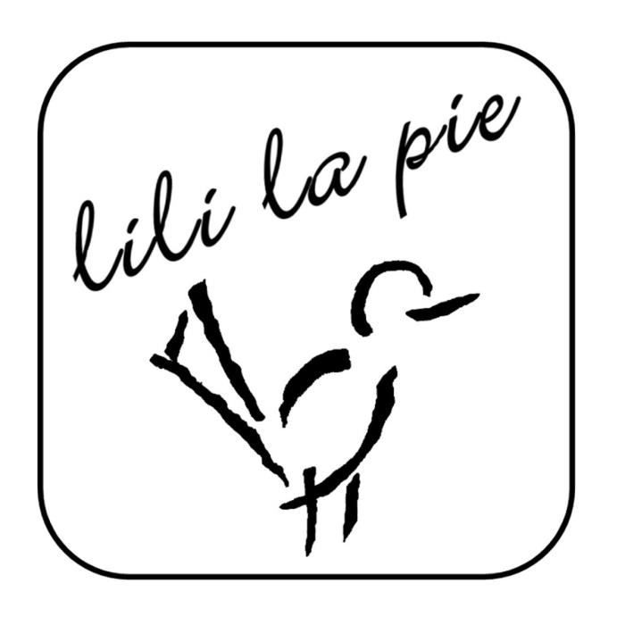 LILI la PIE Broche en métal argenté de la collection SEMERU