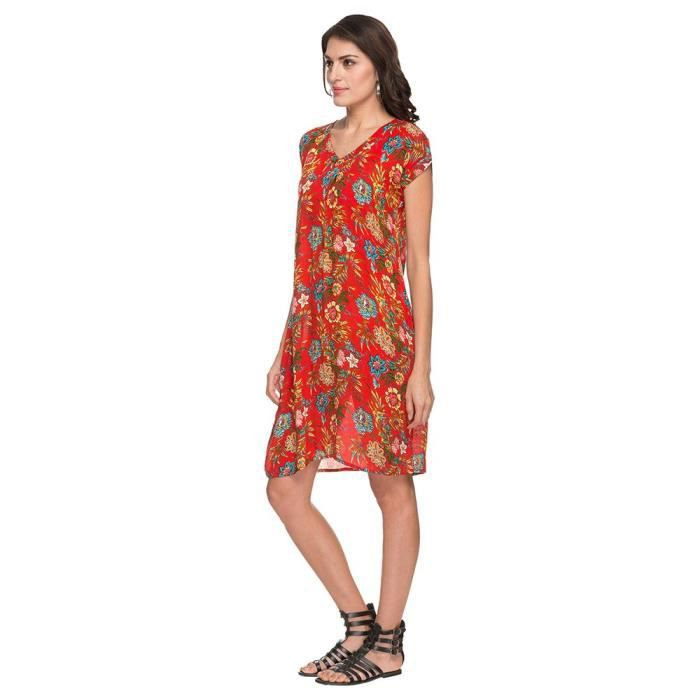 Womens By Shoppers Stop V Neck Printed Knee Length Dress AAD2X Taille-32