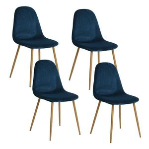 CHAISE CHARLTON VELVET Lot de 4 chaises de salle à manger