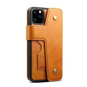 Coque Portefeuille pour iPhone 11 Pro Max Marron Détachable Flip Cover Étui avec Porte Monnaie Fente Multiples Bourse Carte Housse