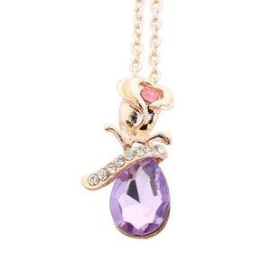 SAUTOIR ET COLLIER Collier Femmes Bijoux Collier pendentif en cristal