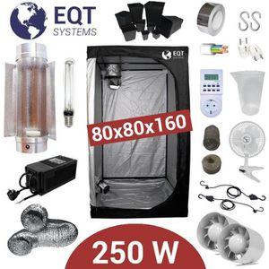 KIT DE CULTURE Pack Box 250W Cooltube 80x80 - Black Box 2 + Supac