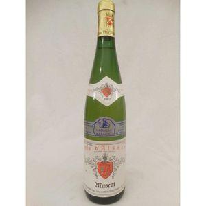 VIN BLANC muscat ebelmann blanc 1987 - alsace france