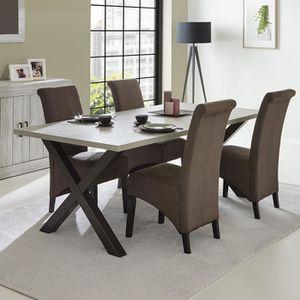 TABLE À MANGER SEULE Table à manger contemporaine couleur bois MEREDITH