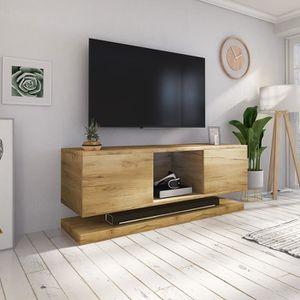 MEUBLE TV Meuble TV / Meuble de salon WIZZ - 140 cm - chêne
