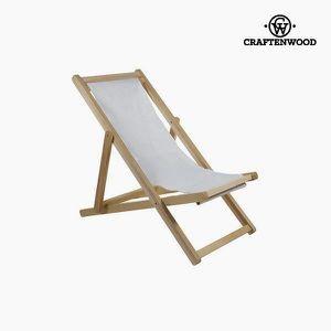 CHAISE Chaise de jardin Bois de peuplier Blanc (111 x 93