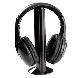 CASQUE - ÉCOUTEURS Casque sans fil écouteurs pour PC TV Radio