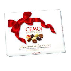 CACAO - CHOCOLAT CEMOI Boite Assortiment Nœud Rouge Chocolats au La