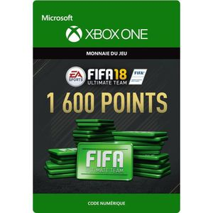 EXTENSION - CODE FIFA 18 Ultimate Team: 1600 Points pour Xbox One