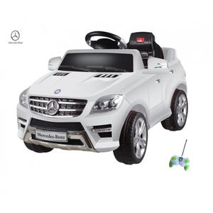 mercedes ml350 blanc voiture lectrique enfant 6 volts. Black Bedroom Furniture Sets. Home Design Ideas