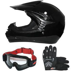 Casque+Masques et Lunette+Gants YXCXY Casque de Moto pour Enfant Motocross Cross Off-Road Noir Mat ATV Quad Casque de Moto certifi/é Casque ECE Blanc, S
