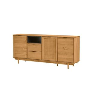 BUFFET - BAHUT  PARIS Buffet bas 3 portes 2 tiroirs en bois massif