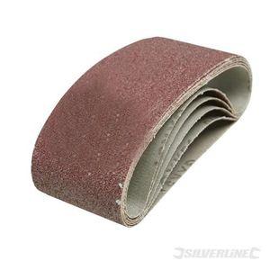 5 Pack 40 Grit 60 x 400 mm Sablage Courroies Sanders très grossière