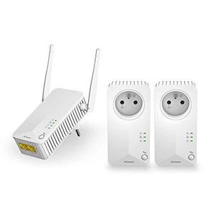 COURANT PORTEUR - CPL STRONG CPL Wi-FI 500 Mbps, Kit de 3 Adaptateurs CP