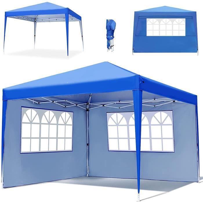 Tonnelle de Jardin Tente 3x3M Gazebo Tonnelle Pliable Impermable et 4 Cts 3 Types de Hauteur Rglable Convient pour Le Camping[11344]