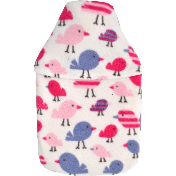 Vagabond Bags Ltd Ltd Bouillotte avec housse en polaire Motif oiseaux 2L1