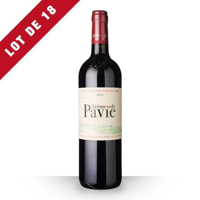 18X Aromes de Pavie 2014 Rouge 75cl AOC Saint-Emilion Grand Cru - Vin Rouge