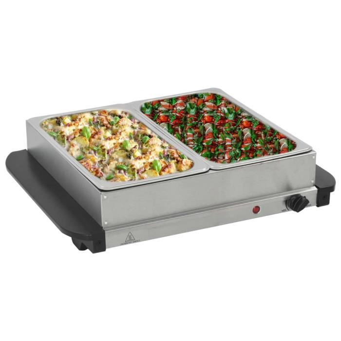 Ecom2093Magnifique - CHAUFFE-PLAT ELECTRIQUE - Serveur buffet Acier inoxydable Style Contemporain - Chafing Dish Acier inoxydable 20