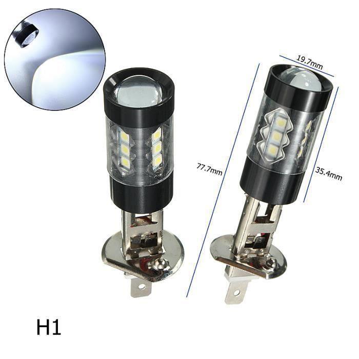 JL Led Ampoules H1 2X 80W 6000K Blanc H1 H3 H4 H7 H11 9005 3030Smd Auto Voiture Brouillard Phares - JLMLR824AA1796