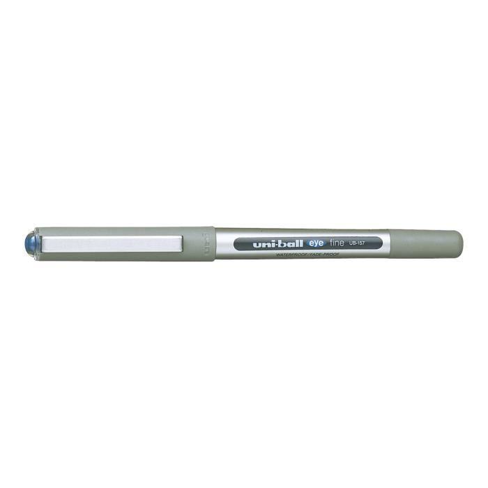 Uni-ball Eye UB-157 Roller bleu encre pigmentée à base d'eau 0.7 mm fin pack de 3