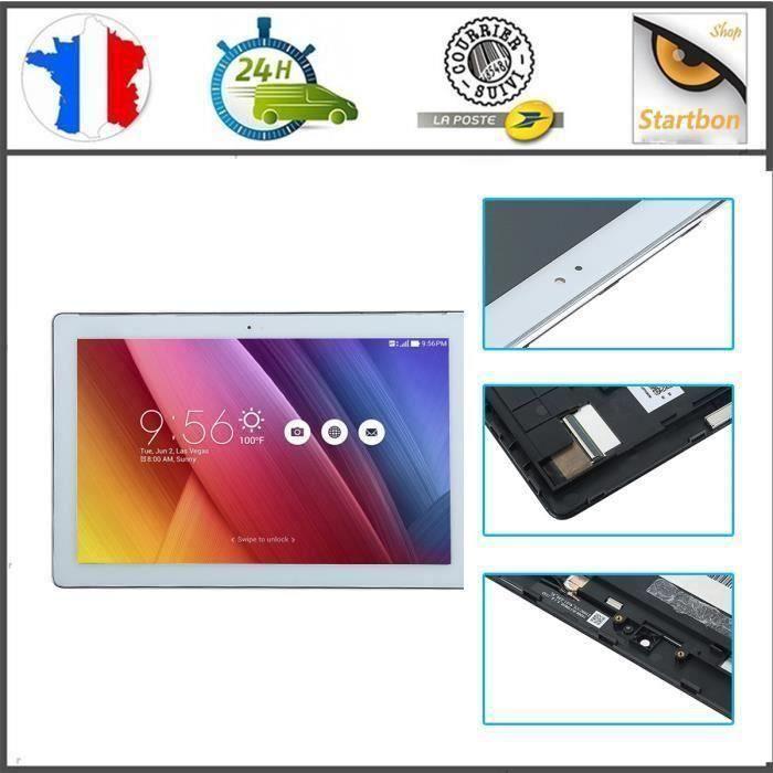 ECRAN LCD + VITRE TACTILE Asus Zenpad 10 Z300 Z300C Z300C P023 avec FRAME BLANC.