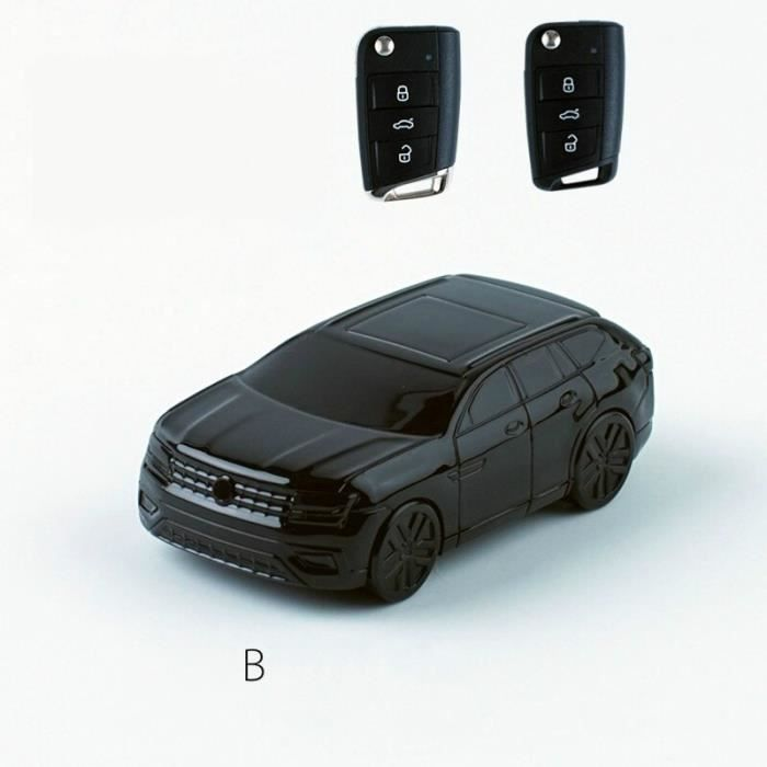 Coque clé,Modèle de voiture clé de voiture couverture Fob costume pour Volkswagen costume pour VW Passat B8 B5 Golf - Type B (SUV)