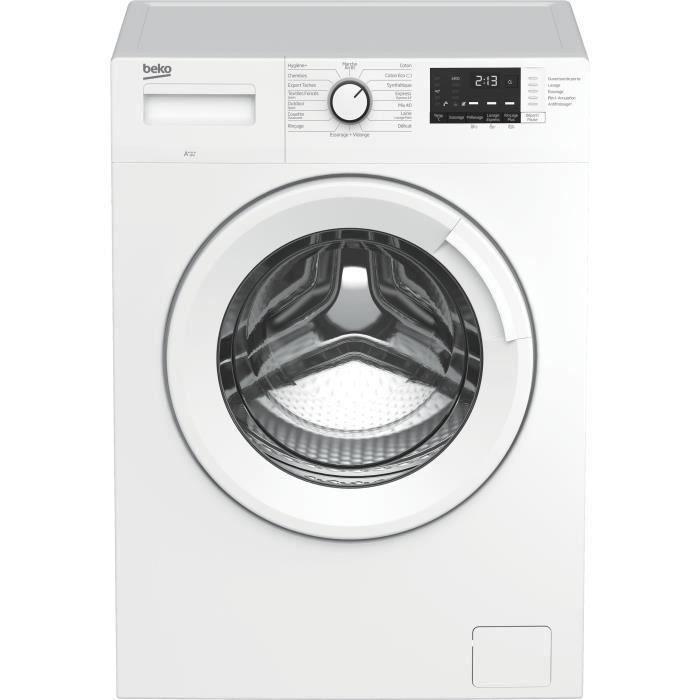 Lave-linge hublot BEKO LLF104W4 - 10 kg - Induction - L60cm - 1400 trs/min - Blanc