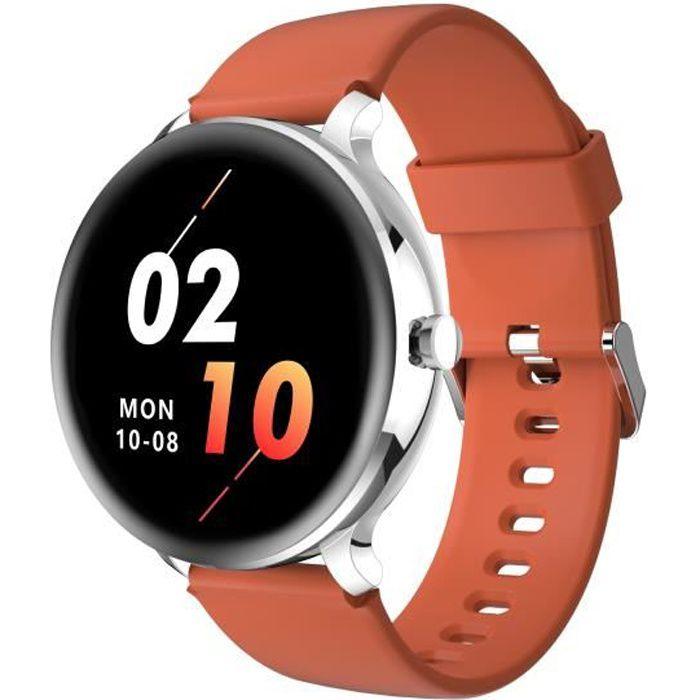Blackview X2 Montre Connectée Femme Homme Smartwatch Fitness Tracker Montre Intelligente IP68 Étanche 9 Modes Sportifs - Argent