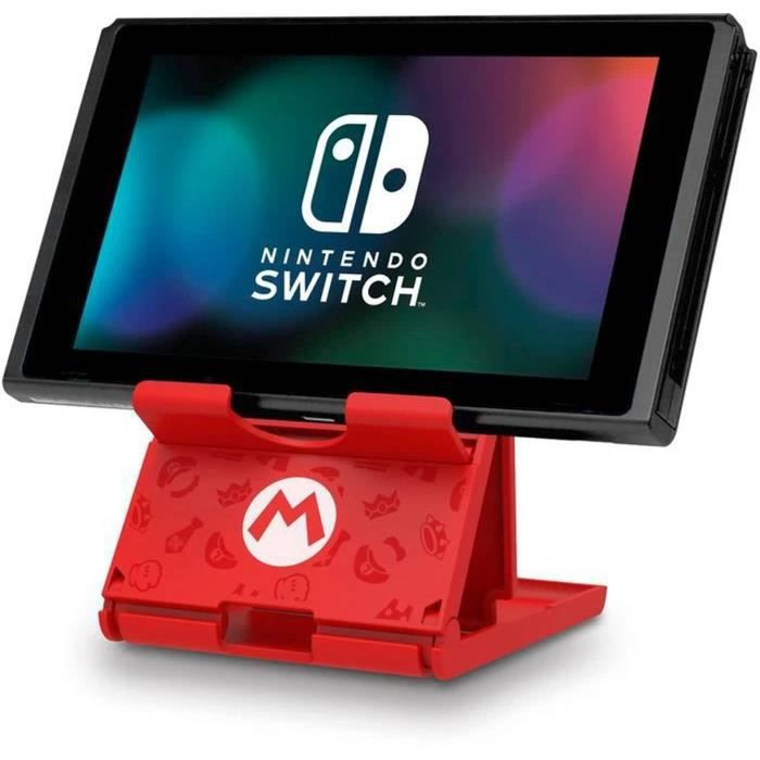 Hori Playstand Mario - Support Pour Console Nintendo Switch - Design Super Mario - Licence officielle Nintendo