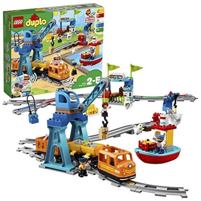 Poupon LEGO P0F5O 10875 Duplo Train de marchandises pour enfants en bas âge, jouets pour 2-5 ans de