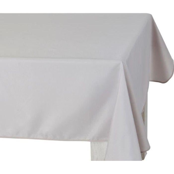 Nappe de table rectangulaire a uni Taupe anti tache Taille 140 x 240 cm