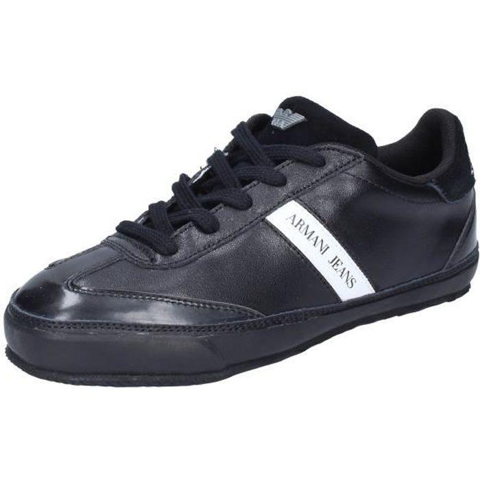 ARMANI JEANS Chaussures Femme Baskets Noir BK592